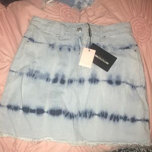 Acid wash PLT skirt